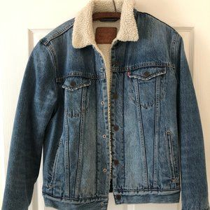 Vintage Levi Sherpa Denim Jacket